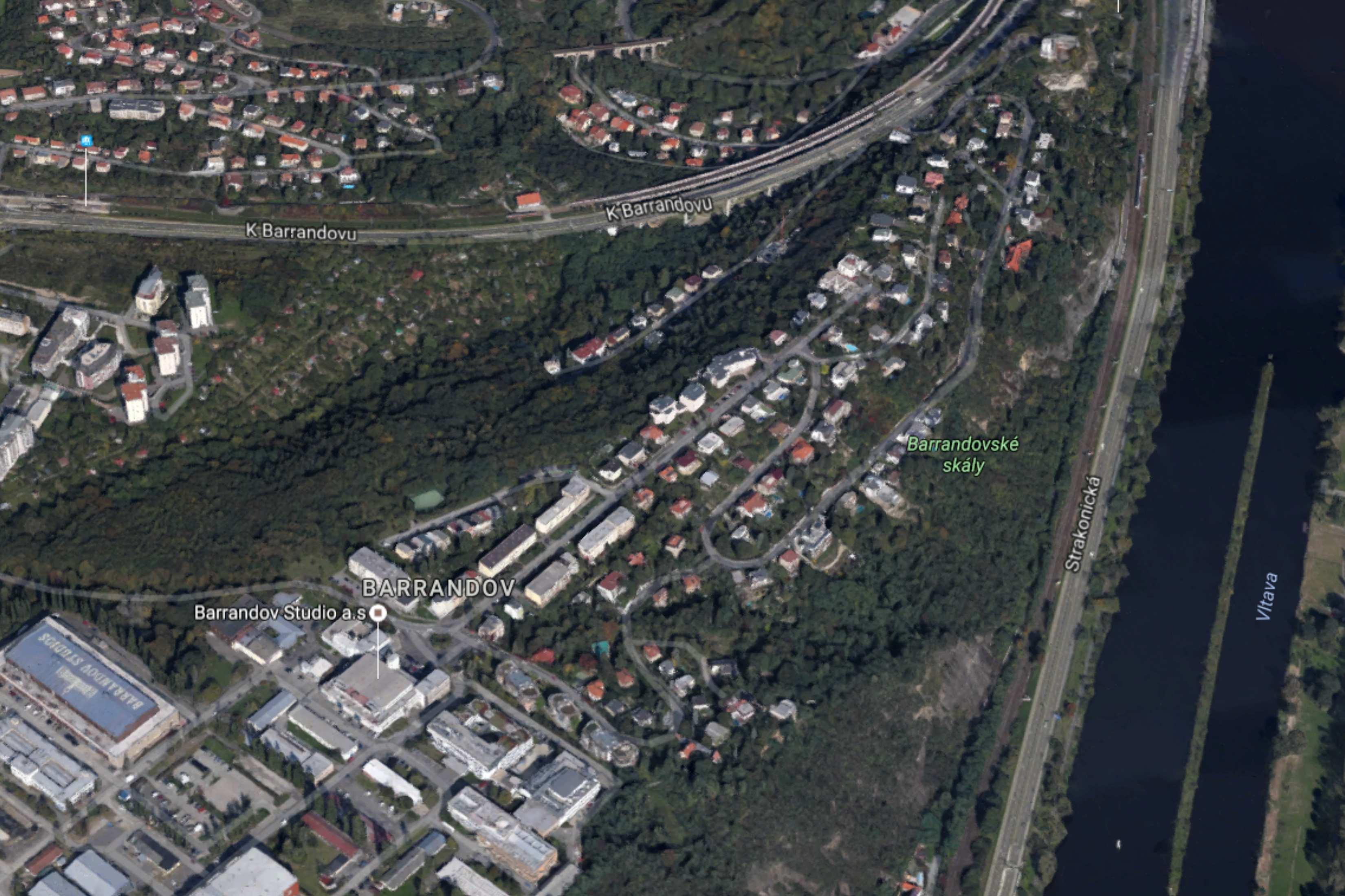 bydlení Barrandov mapa